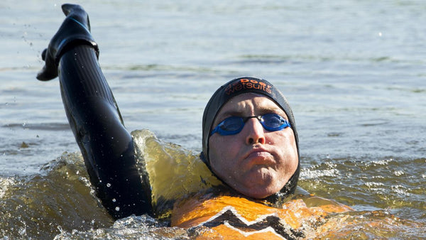 Maarten van der Weijden swims 200km 11 Cities Tour