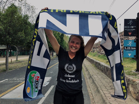 Team deboer athlete Laura knoblach sets new double deca ultra triathlon world record