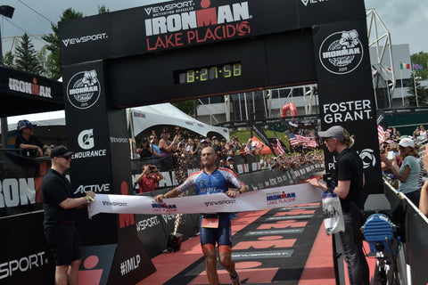 Ironman Lake Placid IMLP finish deboer wetsuits Mat Russell