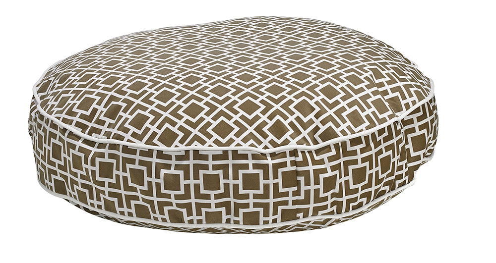 Courtyard Taupe  MicroVelvet Super Soft Dog Bed