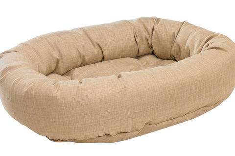 Flax MicroLinen Donut Bed