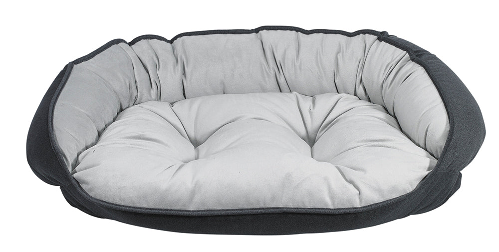 Flint Microvelvet Crescent Bed