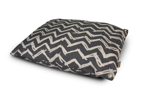 Black Chevron Outdoor Dog Bed
