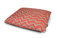 Red Chevron Outdoor Dog Bed