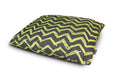 Yellow Chevron Outdoor Dog Bed