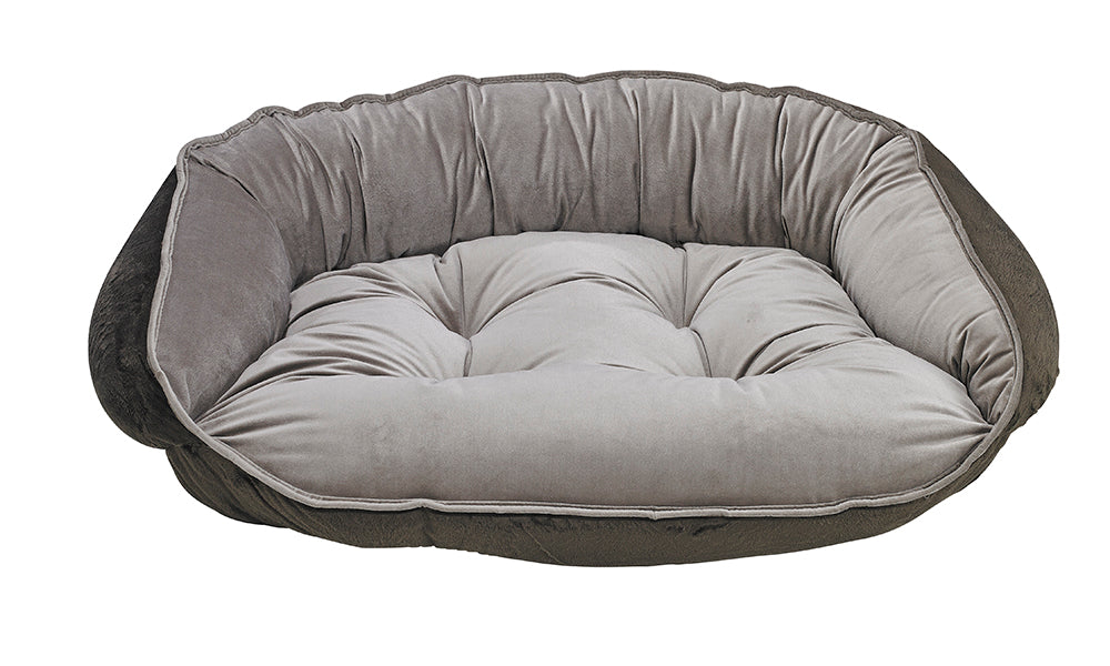 Pebble Microvelvet Crescent Bed