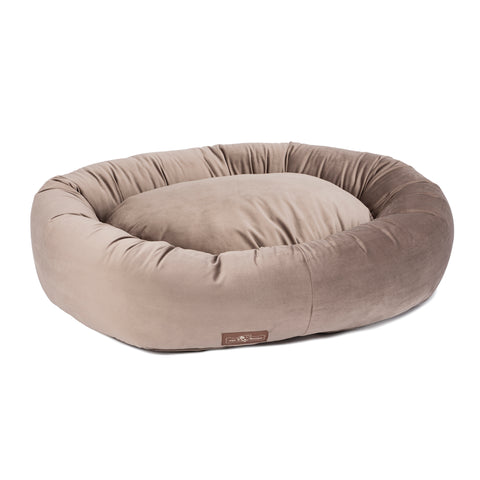 Vintage Oak Plush Velour Donut Bed