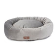 Vintage Seal Grey Donut Dog Bed