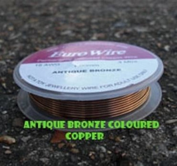 0.4mm Antique Bronze Eurowire - Beading Amazing