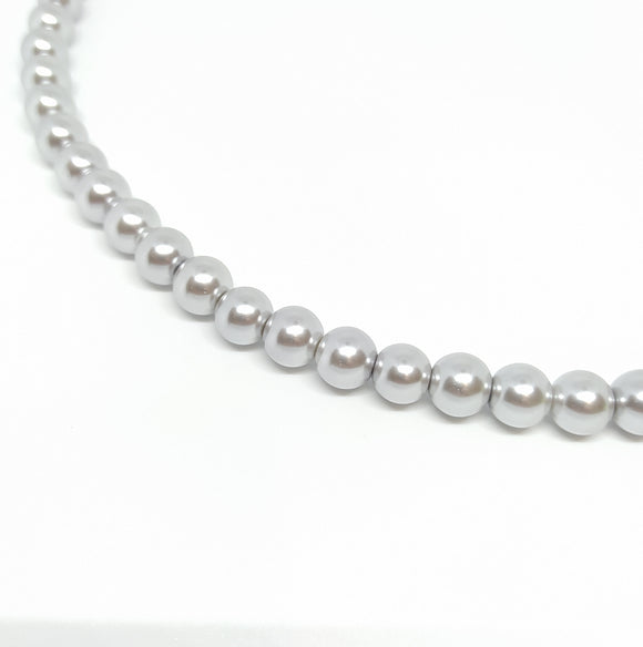 10mm Light Silver Glass Pearls - Beading Amazing