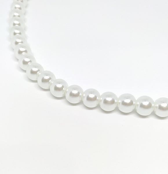 10mm White Glass Pearls - Beading Amazing