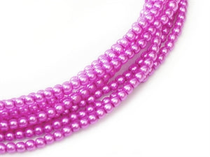 2mm - Glass Pearls - Hot Pink - Beading Amazing
