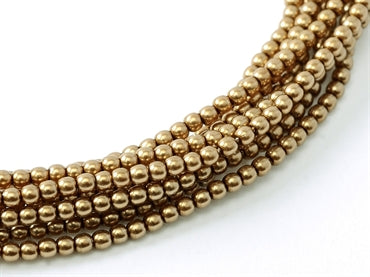 3mm Pearls - Antique Gold - Beading Amazing