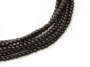 3mm Pearls - Black - Beading Amazing