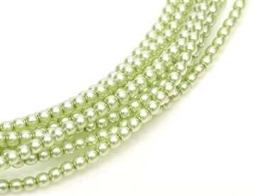 3mm Pearls - Creme Mint - Beading Amazing