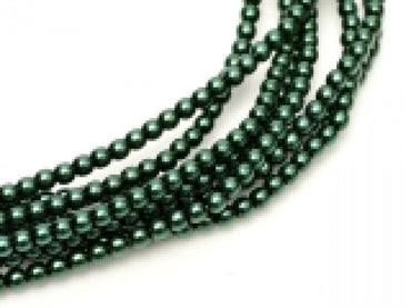 3mm Pearls - Deep Emerald - Beading Amazing