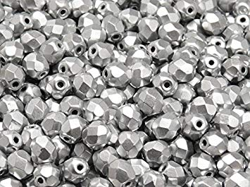 3mm Fire Polished - Aluminium Silver - Beading Amazing