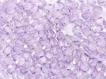 3mm Fire Polished - Lilac - Beading Amazing
