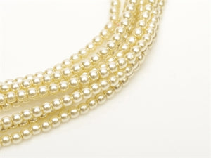 3mm Pearls - Old Lace - Beading Amazing