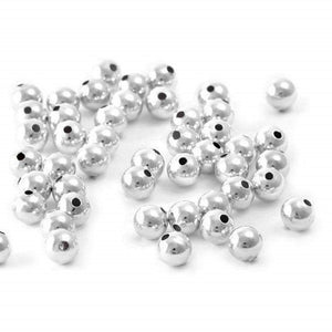4mm Plain Round Spacers (Silver) - Beading Amazing