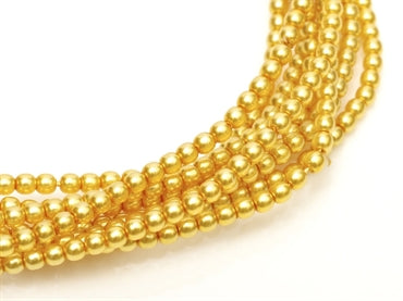 3mm Pearls - Sun Glow - Beading Amazing