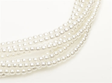 3mm Pearls - White - Beading Amazing