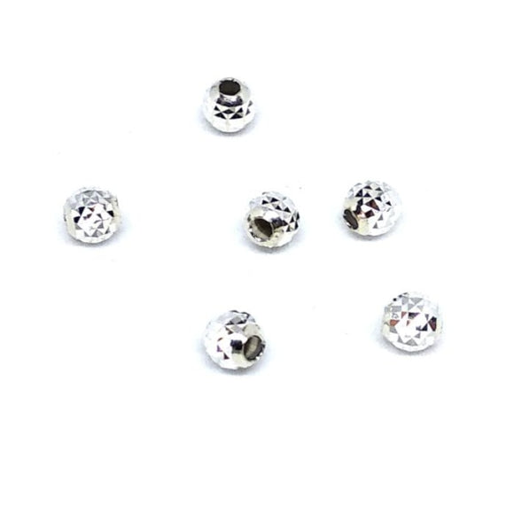 4mm Spacer Beads Facet Cut Sterling Silver - Beading Amazing