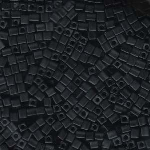 4mm Cubes - Black - Beading Amazing
