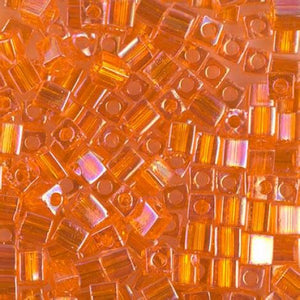 4mm Cubes - Orange - Beading Amazing