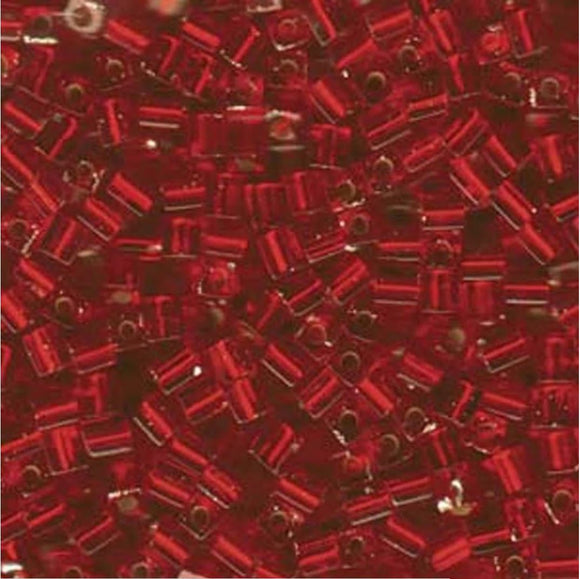 4mm Cubes - Flame Red - Beading Amazing