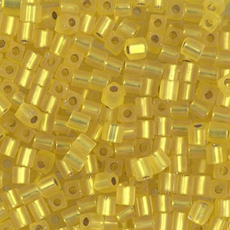 4mm Cubes - S/L Yellow - Beading Amazing