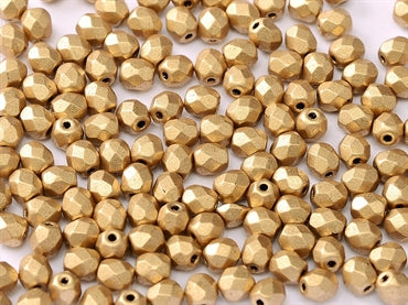 Aztec Gold 4mm Fire Polished - Beading Amazing