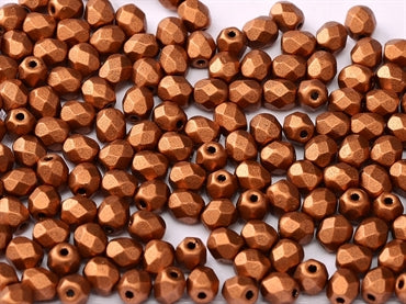 Copper 4mm Fire Polished - Beading Amazing