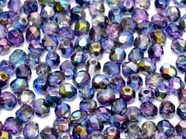 Magic Blue 4mm Fire Polished - Beading Amazing
