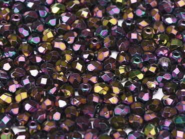 Purple Iris 4mm Fire Polished - Beading Amazing