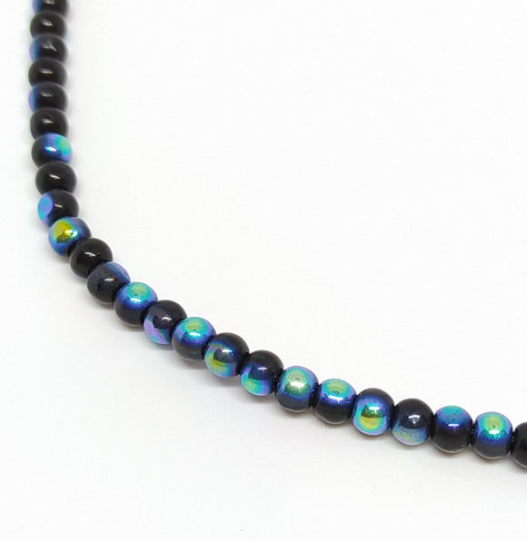 4mm Black AB Glass Beads - Beading Amazing