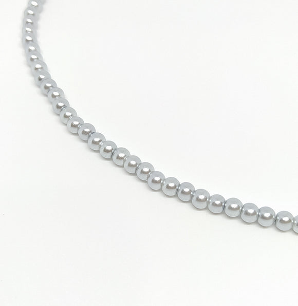 4mm Light Silver Glass Pearls - Beading Amazing