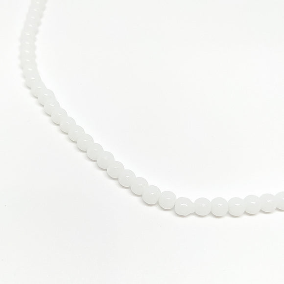 4mm White Opaque Glass Beads - Beading Amazing