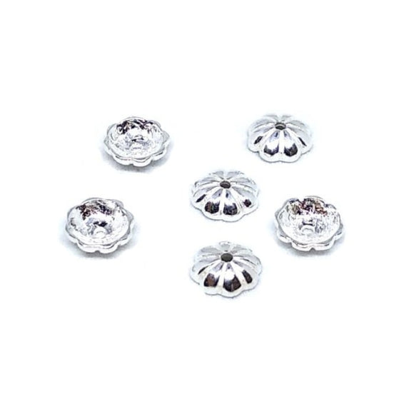 6mm Bead Cap Sterling Silver - Beading Amazing