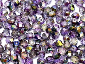Magic Purple 6mm Fire Polished - Beading Amazing