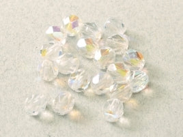 Crystal AB 6mm Fire Polished - Beading Amazing