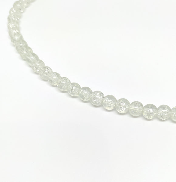 6mm Clear Crackle Glass Beads - Beading Amazing
