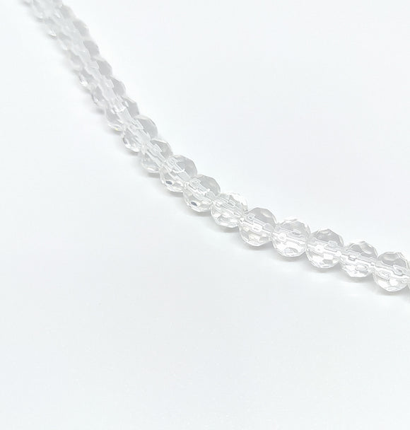 6mm Clear Faceted Glass Beads - Beading Amazing