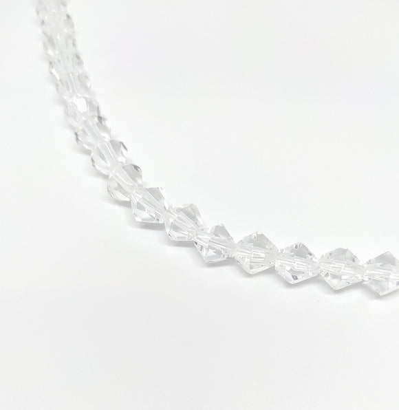 8mm Clear Bicone Glass Beads - Beading Amazing
