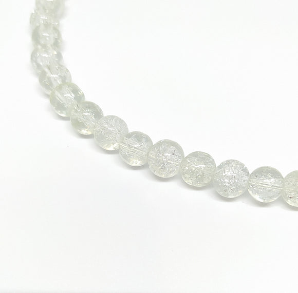 8mm Clear Crackle Glass Beads - Beading Amazing