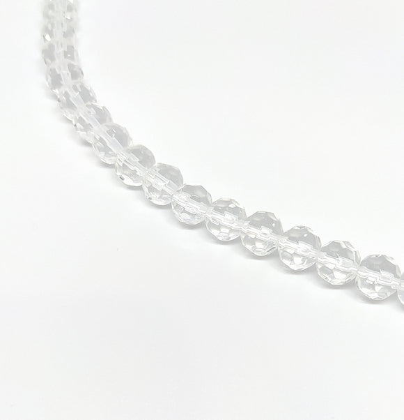 8mm Clear Faceted Glass Beads - Beading Amazing