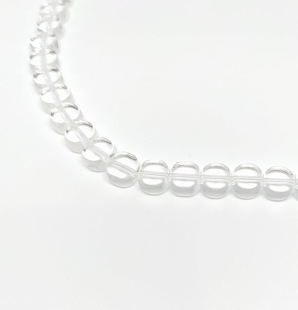 8mm Clear Flat Disc Glass Beads - Beading Amazing