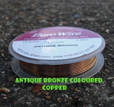 0.8mm Antique Bronze Eurowire - Beading Amazing