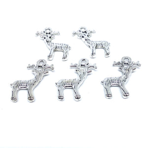 Reindeer Charms (Antique Silver) - Beading Amazing