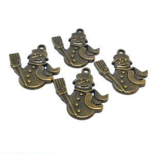 Snowman Charms (Antique Bronze) - Beading Amazing